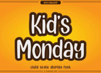 Kids Monday Display Font