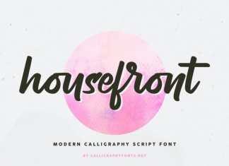 Housefront Script Font