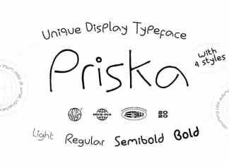 Priska Handwritten Font