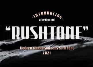 Rushtone Sans Serif font