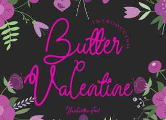 Butter Valentine Handwritten Font