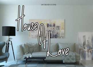 House of Love Handwritten Font