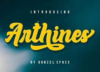 Arthines Script Font