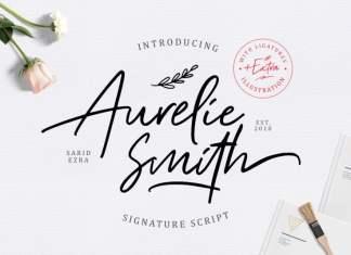 Aurelie Smith Script Font