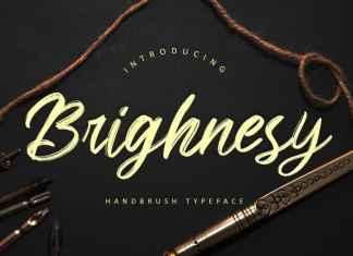 Brighnesy Brush Font