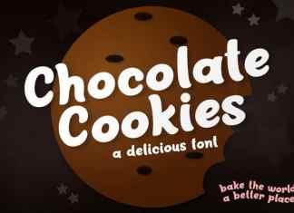 Chocolate Cookies Display Font
