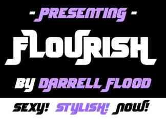 Flourish Display Font