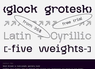 Glock Grotesk Font Family