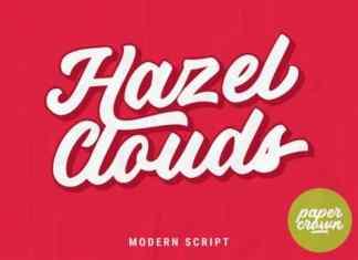 Hazel Clouds Script Font