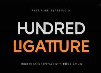 Hundred Ligatture Sans Serif Font
