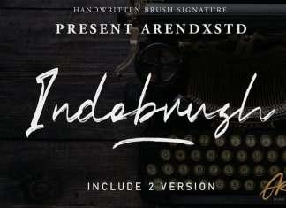 Indobrush Brush Font