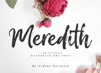 Meredith Brush Font