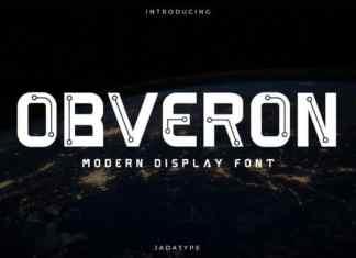 Obveron Display Font