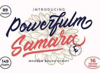 Powerfulm Samara Script Font