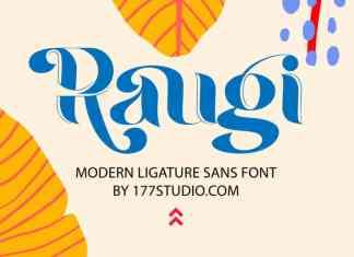 Raugi - Ligature Sans Serif Font