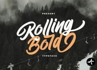 Rolling Bold Script Font
