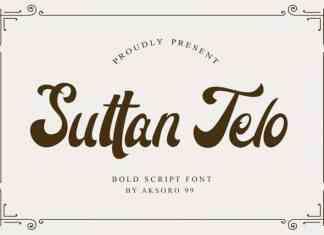 Suttan Telo Script Font