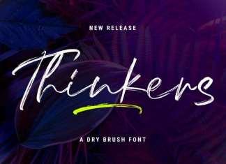 Thinkers Brush Font