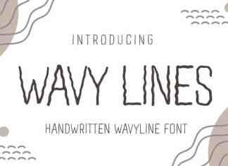 Wavy Lines Display Font
