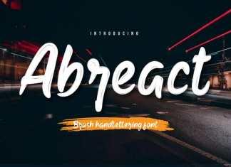 Abreact Script Font