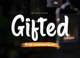 Gifted Script Font
