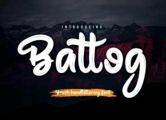 Battog Script Font