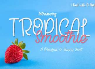 Tropical Smoothie Script Font
