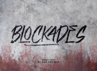 Blockades Brush Font
