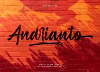 Andrianto Brush Font