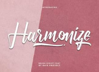 Harmonize Brush Font