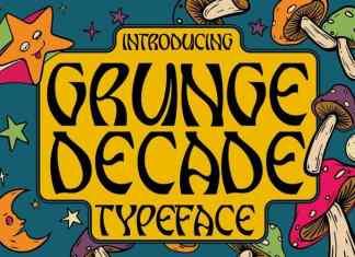 Grunge Decade Display Font