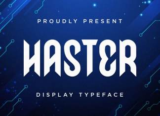 Haster - Display Font