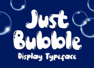 Just Bubble Display Font