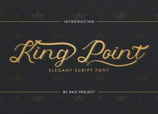 King Point Calligraphy Font