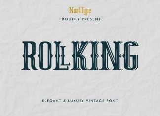 RollKing Display Font