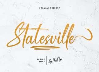 Statesville Script Font