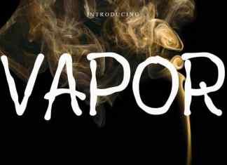 vapor Display Font