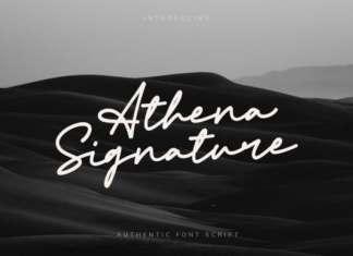 Athena Signature Script Font