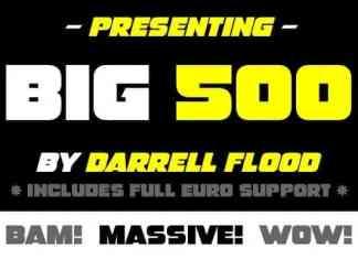Big 500 Display Font
