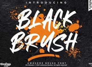 Black Brush Script Font