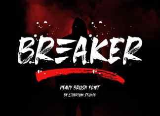 Breaker Brush Font