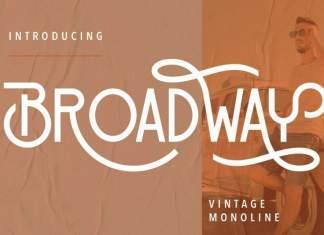 Broadway Display Font