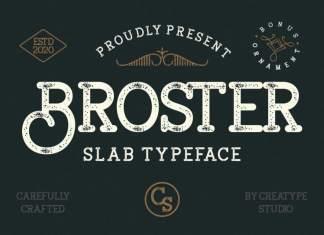 Broster Display Font