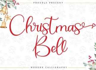 Christmas Bell Calligraphy Font