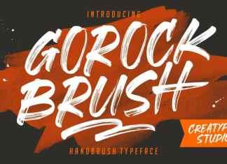Gorock Brush Font