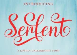Serfent Script Font