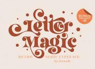 Letter Magic Display Font