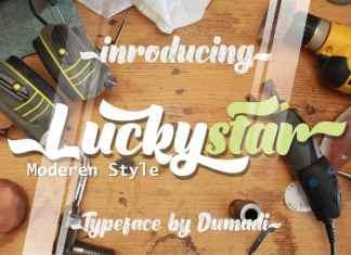 Luckystar Bold Script Font