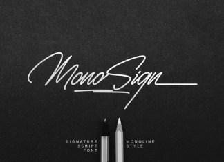 Monosign Script Font