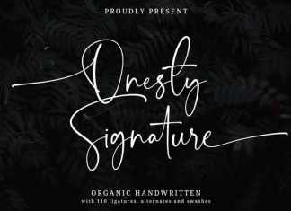 Onesty Calligraphy Font